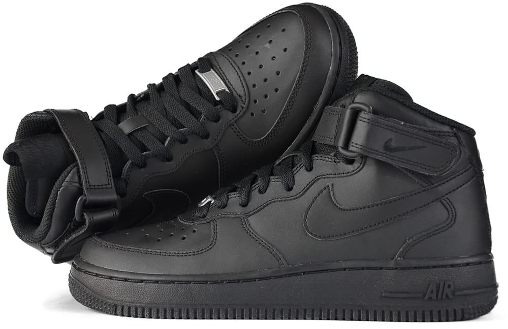 quality design 347b6 c918a ... buty nike air force 1 mid 07 all black ...