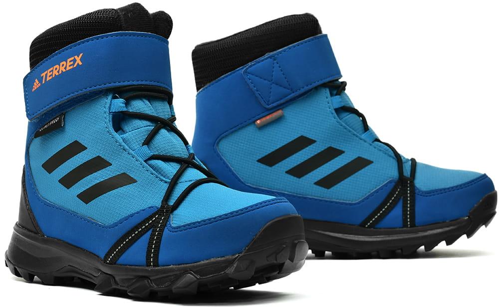 41f035890496b Buty zimowe dziecięce ADIDAS TERREX SNOW CF CP CW K niebieskie (AC7966) ...